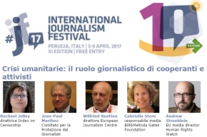 Anche all' IJF di Perugia si è parlato del rapporto tra giornalisti e attori dellacooperazione